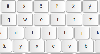 Czech keyboard online